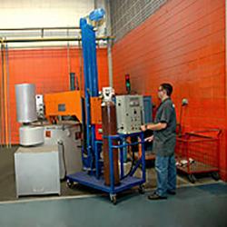 Equipamento para desgaseificação de metal